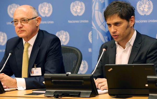 Defensa. El canciller Timerman y el ministro Kicillof presentarán hoy ante la ONU el caso argentino.
