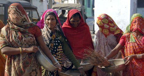 castas. Mujeres de la casta de los Dalit (Intocables) en un pueblo de India.