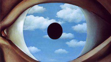 El espejo falso, de René Magritte (1898-1967).