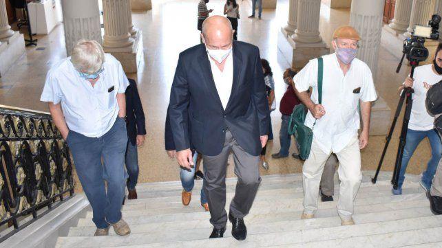 Jorge Hoffman, de ATE, y Jorge Molina, de UPCN, se mostraron conformes con el ofrecimiento salarial realizado por el gobierno provincial.