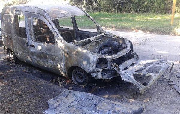 calcinada. La camioneta de la víctima fue hallada en un camino de Pérez.