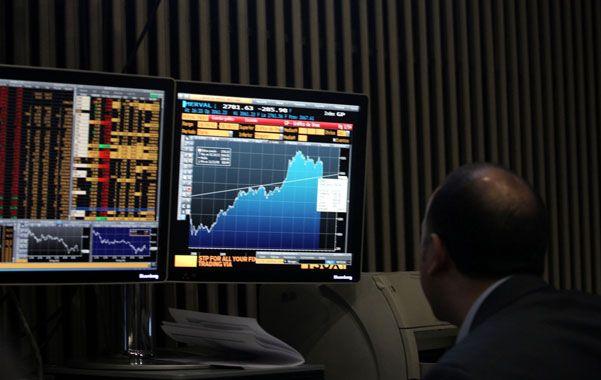 Máximos. El índice de acciones líderes de la Bolsa porteña comenzó su carrera alcista en el mes de julio.