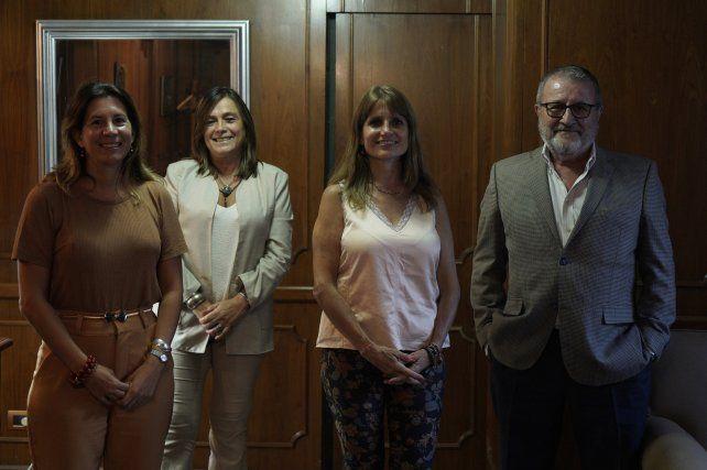 Los integrantes de la lista Acción Notarial.