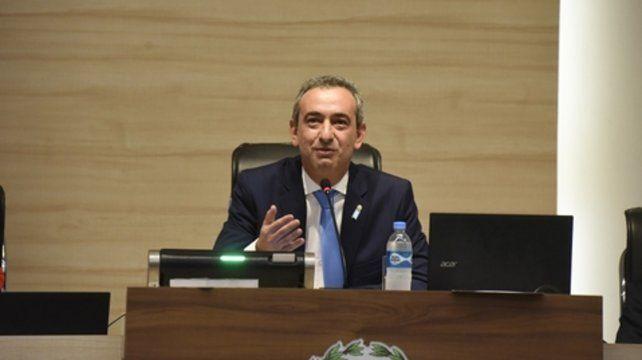 El intendente Pablo Javkin regresó al Concierto para dar el discurso de apertura de sesiones.