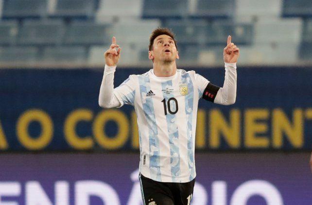 El rosarino Leo Messi la está rompiendo en la Copa América.