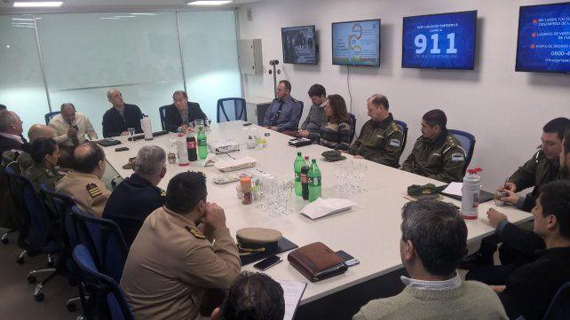 Fuerzas federales y provinciales realizan su primera reunión en la Central OJO