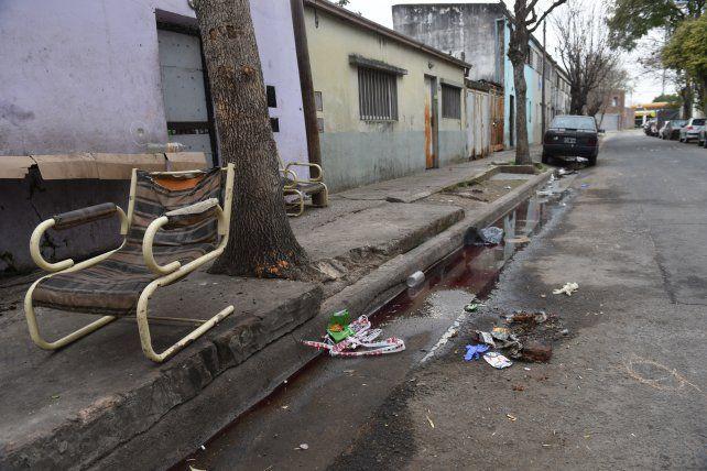 El cuerpo de Lucas Benítez cayó cerca de un banco de vereda