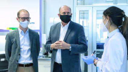 El gobernador Omar Perotti durante su visita a Bioceres, en el Polo Tecnológico Rosario.