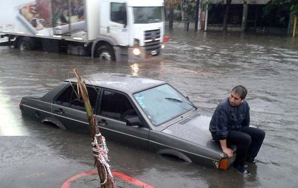 La lluvia caída en la ciudad de Buenos Aires y alrededores
