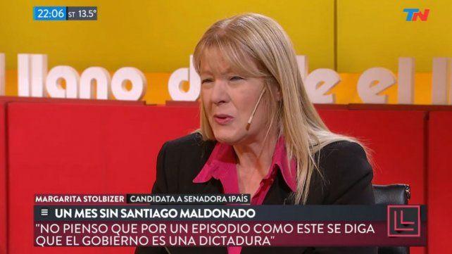 Stolbizer dijo que no puede acusarse al gobierno de ser  una dictadura por el caso Maldonado