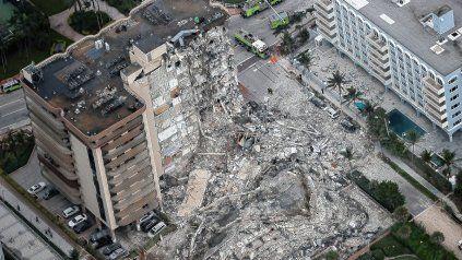 El impactante video del derrumbe del edificio de Miami