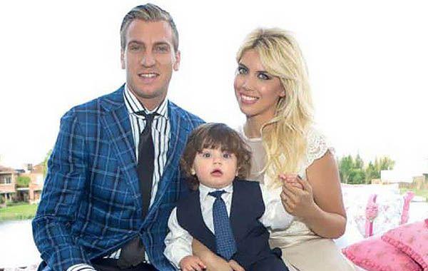 Las fotos del bautismo del hijo de Maxi López y Wanda Nara