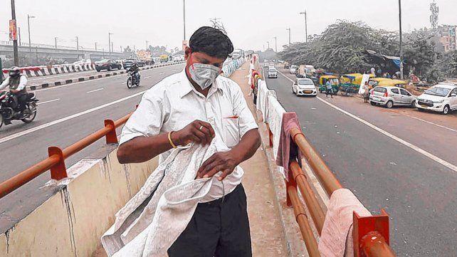 irrespirable. Nueva Delhi bajo una capa de smog. Los óxidos de nitrógeno son parte clave de este contaminante.