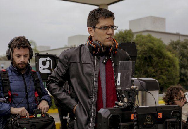 El director Luciano Juncos durante la filmación.