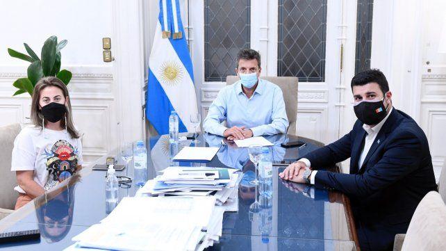 Cleri y Massetani se reunieron con Massa para impulsar el proyecto de Ganancias que beneficiará a cien mil santafesinos