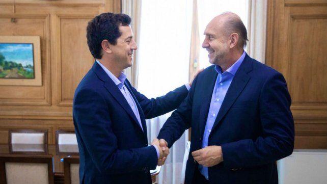 El gobernador Omar Perotti y el ministro del Interior