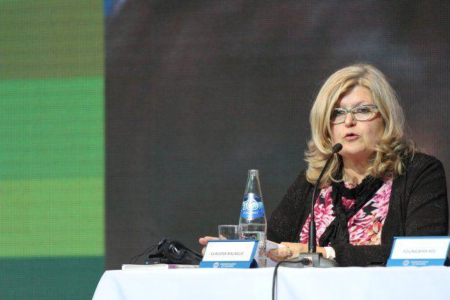 La ministra de Educación