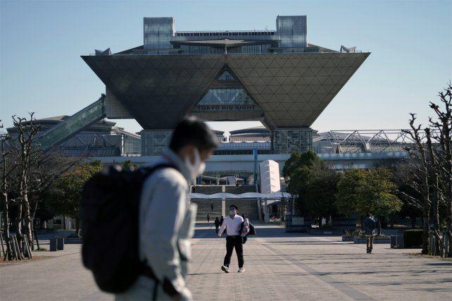 Centro Internacional de Exposiciones de Tokio (Tokyo Big Sight) donde IBC (Centro Internacional de Transmisión) y MPC (Centro de Prensa Principal) para los Juegos Olímpicos y Paralímpicos de Tokio 2020.