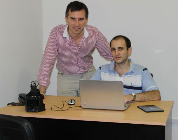 Equipo. Fernando Tonella y Sebastián Rocco de Movizen.