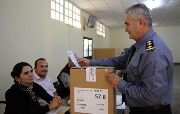 El acto electoral de la fuerza de seguridad