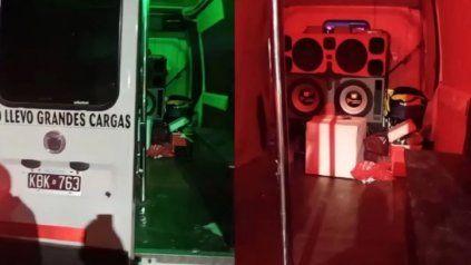 Imagenes de los elementos secuestrados durante el operativo.