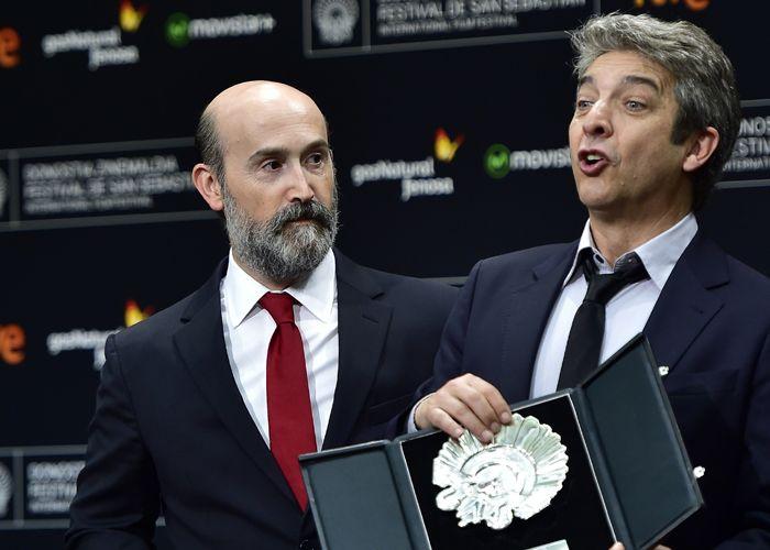 Galardón. Javier Cámara y Ricardo Darín