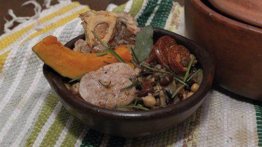 Guisito criollo de legumbres y ossobuco