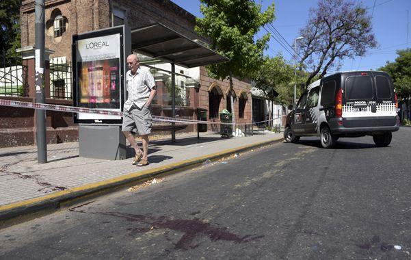 Mendoza y Avellaneda. Daniel Gonza sufrió una hemorragia fatal al recibir el disparo en la arteria femoral.