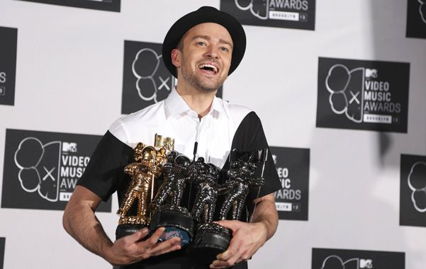 La sonrisa de Justin. Timberlake se llevó cuatro premios MTV