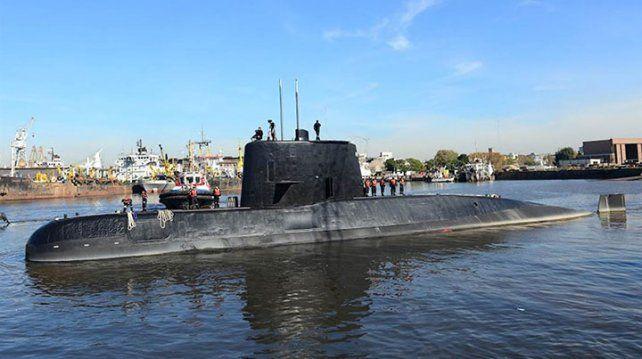 Foto de archivo del submarino ARA San Juan: fue tomada en 2014 en el puerto de Buenos Aires foto: AFP Armada Argentina