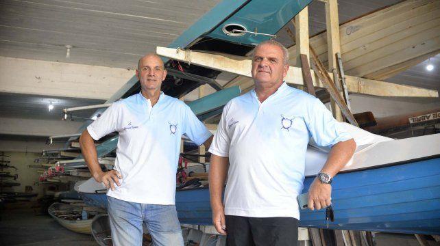 Entusiasmados. Los dirigentes y organizadores del Paraná Rowing Club