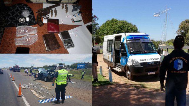 Investigaciones. Un misionero fue arrestado con droga oculta en su auto. Los allanamientos en Chajarí y ciudades correntinas estuvieron a cargo de la Policía provincial y Prefectura.