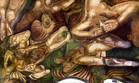 Cristina Fernández y Felipe Calderón inauguraron un mural de Siqueiros