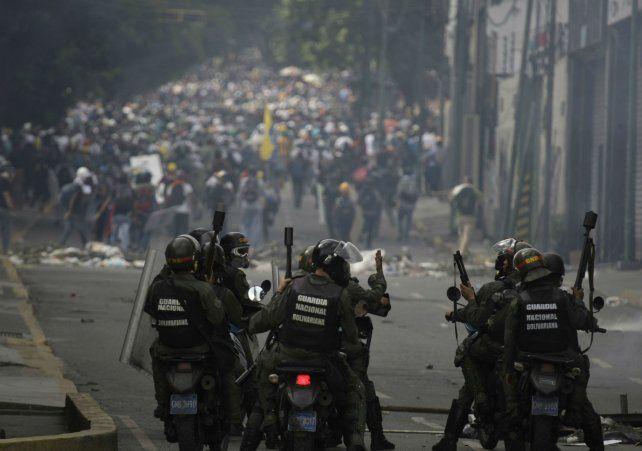 Las movilizaciones de Venezuela en contra del gobierno chavista de Maduro.