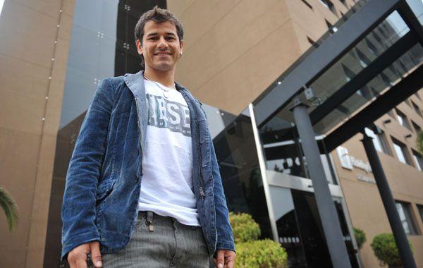 Todo okey. El delantero Rodrigo Mora vine de jugar en Peñarol.
