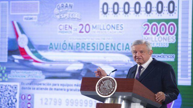 Puede fallar. López Obrador presenta la idea de la rifa el pasado 7 de febrero.