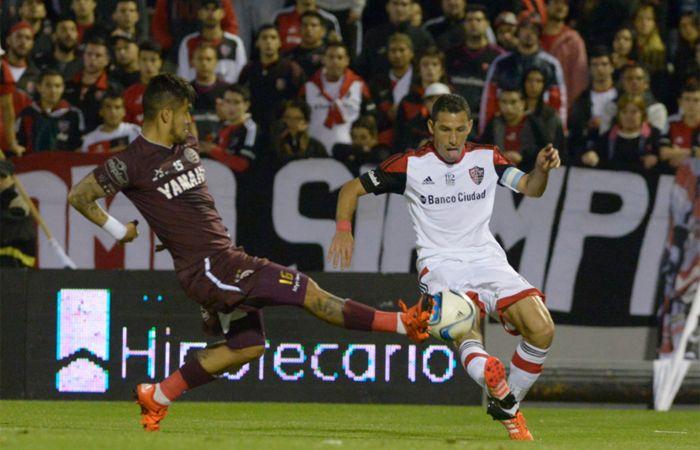 El partido entre Newells y Lanús en el Coloso finalizó 1 a 1. (Foto: Sebastián Suárez Meccia / La Capital)
