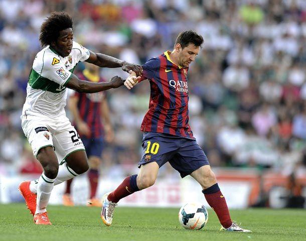 El Barcelona de no pudo quebrar el cero ante Elche.