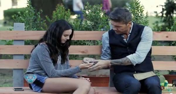 En la piel de Forrest Gump, Tinelli se conmovió con su hija Juanita