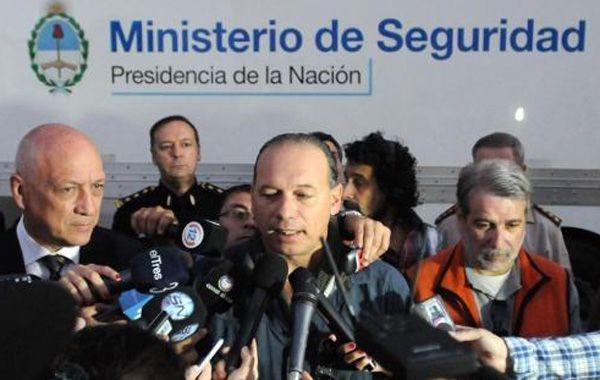 """Gutiérrez ponderó el """"buen"""" diálogo que mantiene con Antonio Bonfatti(en la imagen junto a Sergio Berni)"""