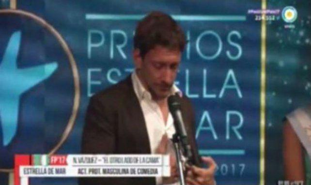 Con un emotivo discurso, Nico Vázquez dedicó a su hermano el Premio Estrella de Mar