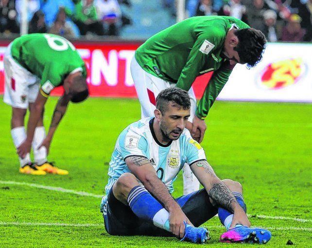 La imagen de Pratto habla por sí sola. El delantero argentino