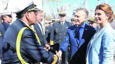 Macri celebró el 9 de Julio en la fragata Libertad, anclada en Hamburgo.
