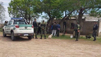 El allanamiento en Estación Díaz fue realizado por personal de Gendarmería.