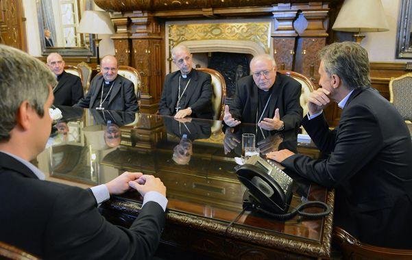 solicitud. La Conferencia Episcopal saludó al presidente de la Nación por Navidad y Año Nuevo.