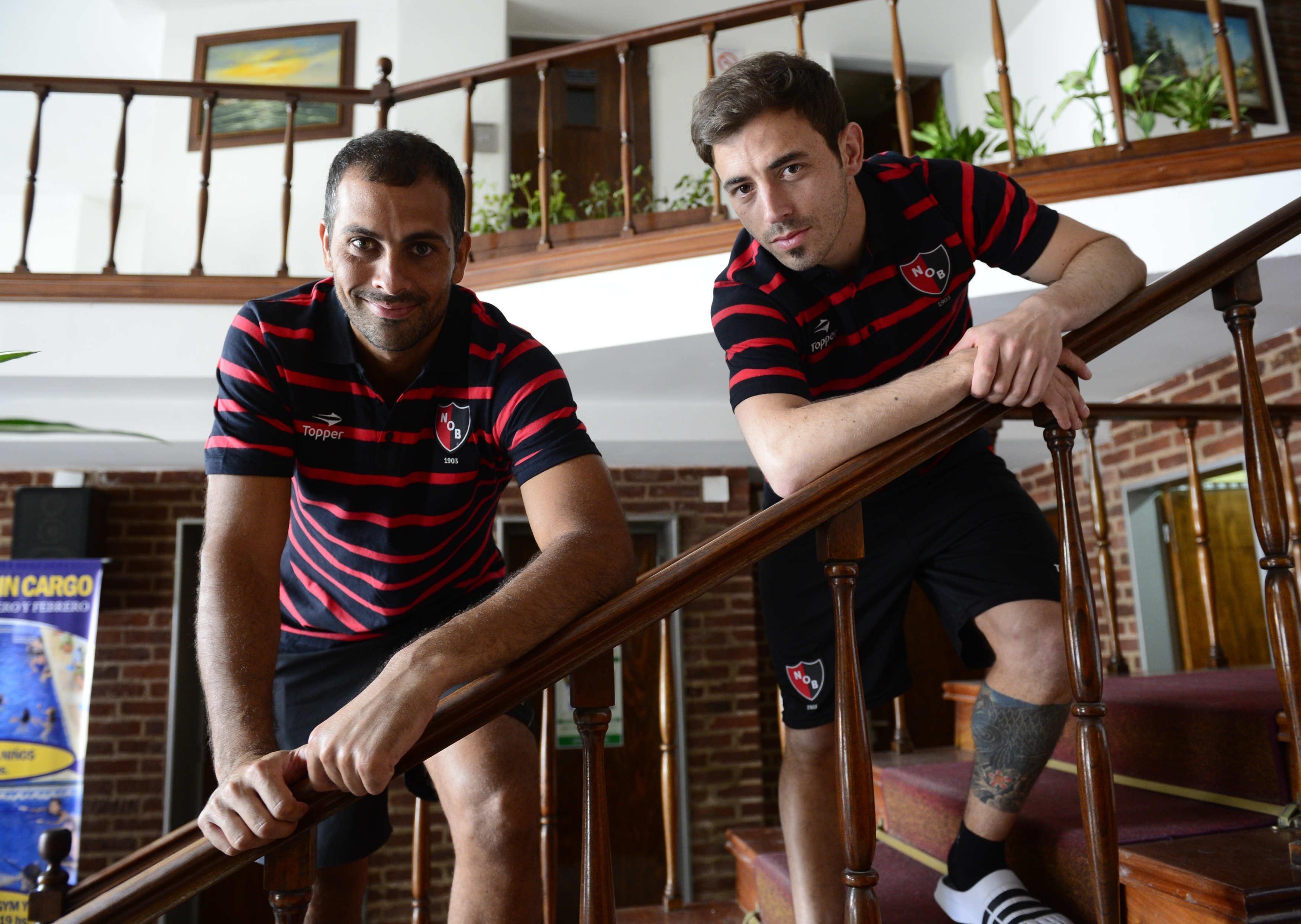 Pocrnjic y Bernardello fueron las primeras incorporaciones del Tolo y viajaron con el grupo a Necochea. (Foto: H.Rio)