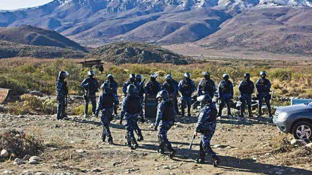 El operativo de Gendarmería en el sur argentino.