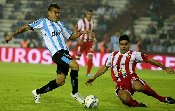 Brian Fernández en el partido ante Unión. El doping positivo fue ante River.
