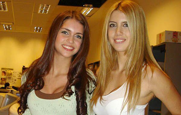 Las fotos de las hermanas Zaira y Wanda Nara en Italia