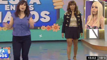 Anamá se enojó con Aguirre y se fue del programa de juegos que conduce Edith Hermida.